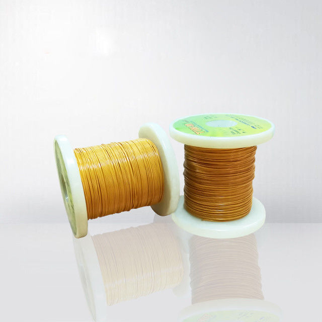 0.1mm Triple Insulated Wire 130℃ Enameled Copper Wire TIW Wire For Transformers / Coils ISO Approved